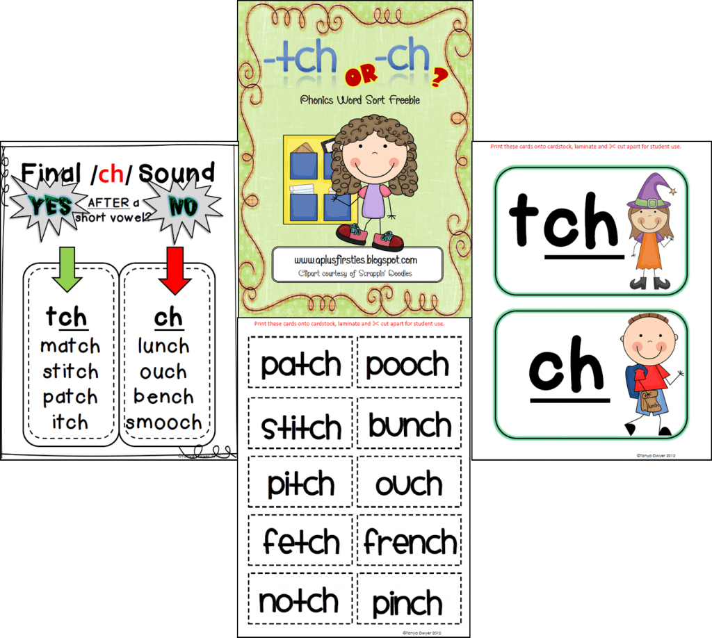 tch and ch word sort